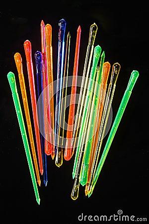 Free Neon Party Picks Stock Photos - 22188393