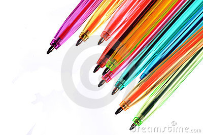 Neon pens of various colours
