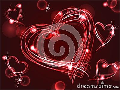 Neon or plasma hearts