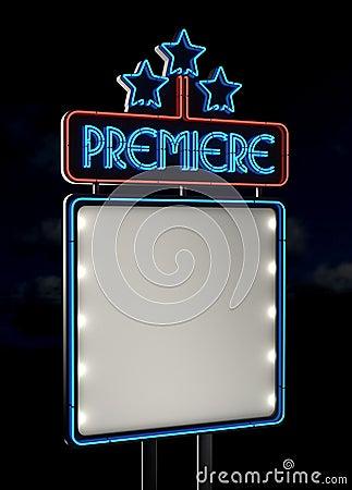 Neon Premiere sign