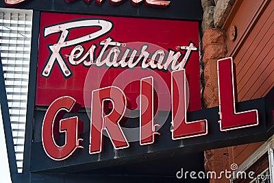 Neon Restaurant Grill Sign