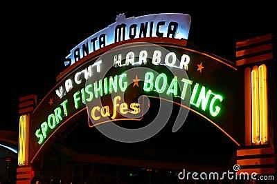 Neon Santa Monica Pier Sign