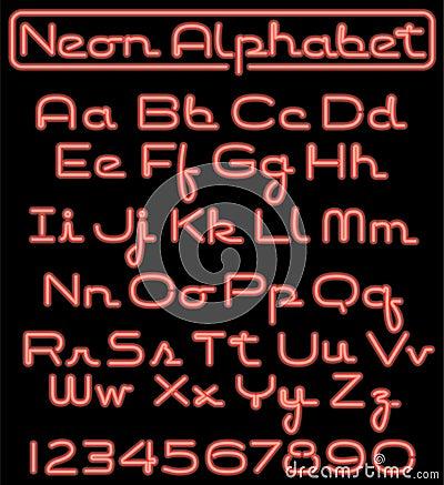 Free Neon Script Alphabet/eps Stock Photography - 10204682