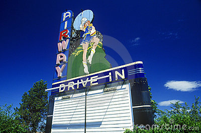 Neon sign at Airway Drive In Editorial Image
