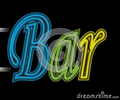 Neon sign bar