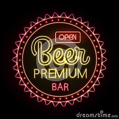 Free Neon Sign. Beer Bar Stock Photos - 46522763