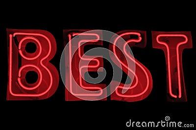 Neon sign - Best