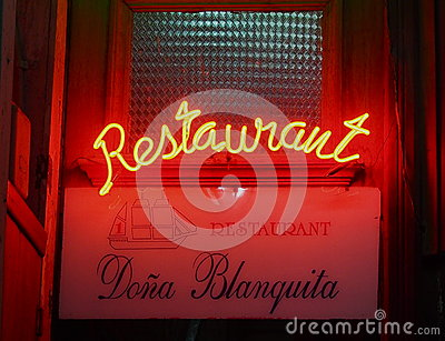 Neon Sign In Havana Cuba Editorial Image
