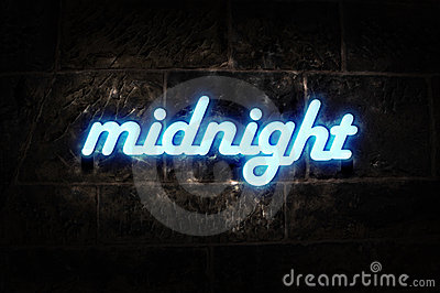 Neon Sign Midnight