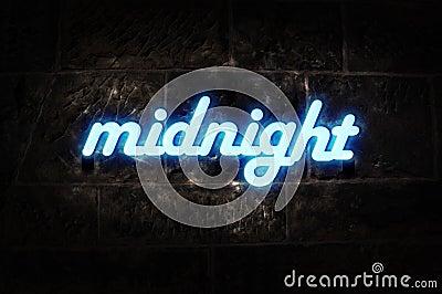 Neon Sign Midnight