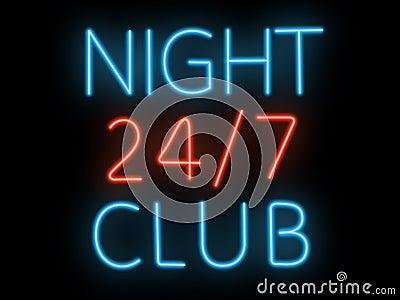 Neon sign - night club