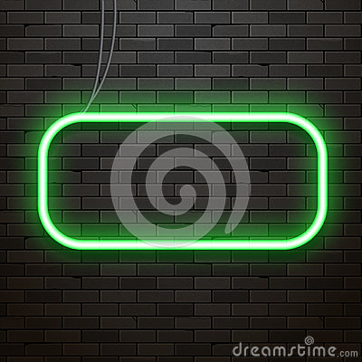 Free Neon Sign On A Brick Wall. Neon Glowing Decoration Royalty Free Stock Images - 83062199