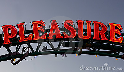 Neon sign pleasure