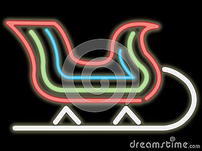 Neon sleigh