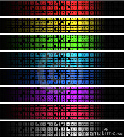 Neon square banners