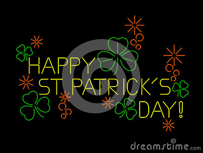 Neon St Patricks Day Sign