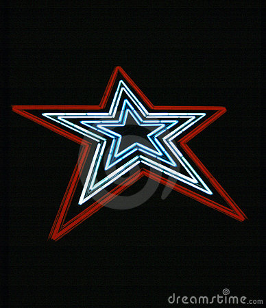 Free Neon Star Royalty Free Stock Images - 6858499