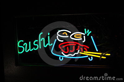 Neon Sushi Sign