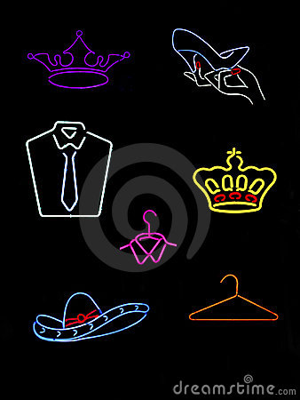 Neon Symbols & Signs Royalty Free Stock Photos - Image: 11352508
