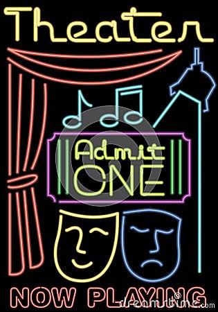 Neon Theater/Stage Symbols/ai