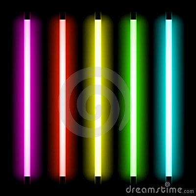 Free Neon Tube Light Stock Photo - 24069740