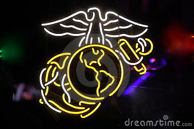 Neon US Marine Corps Symbol