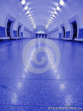 Free Neon Violet Subway Interior, Nobody, Tunnel Stock Photos - 11585823