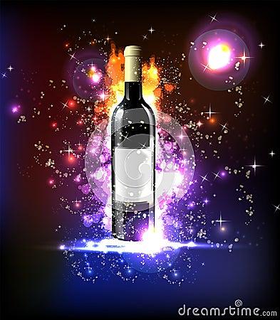 Neon wine