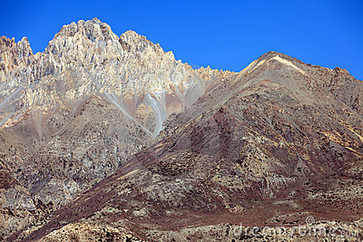 Nepal arid mountains