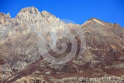 Nepal arid mountains