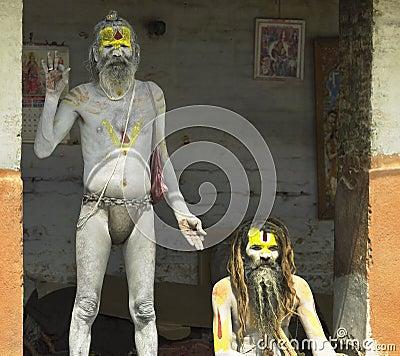Nepal - Hindu Sadhu (Holy Men) Editorial Stock Image