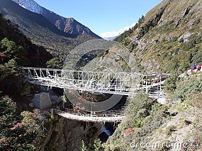 Nepal mostu zawieszenie