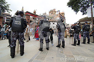 Nepal police Editorial Stock Image