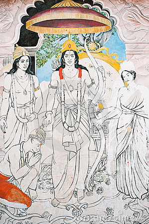 In Nepal, the temple wall murals