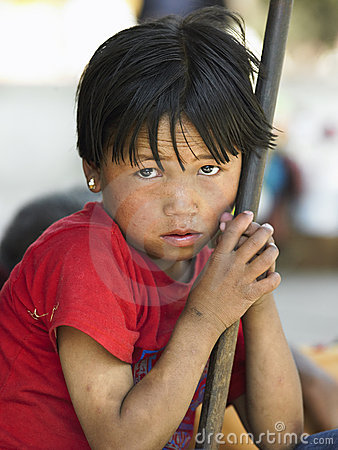 Nepalese Boy - Kathmandu - Nepal Editorial Stock Photo