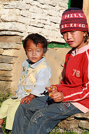 Nepalese kids Editorial Image