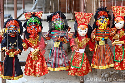 Nepalese puppets