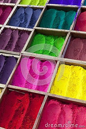 Free Nepalese Tikka Powder In Various Colours Royalty Free Stock Photos - 12639758