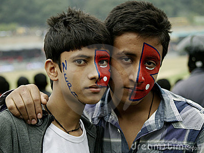 Nepali Fans In Nepal Vs Hongkong Cricket Match Royalty Free Stock Image - Image: 22288816