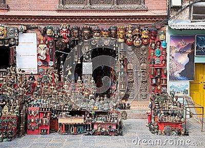 Nepali souvenirs Editorial Image