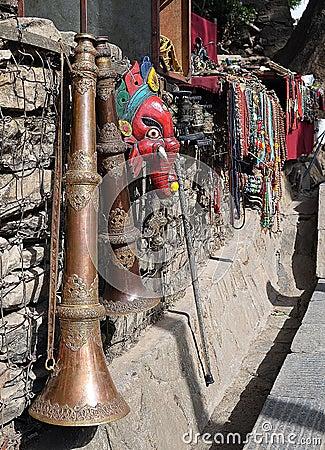 Nepali souvenirs Editorial Photography