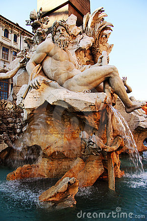 Neptune Fountain of the Four Rivers