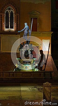 Neptune Fountain by Night