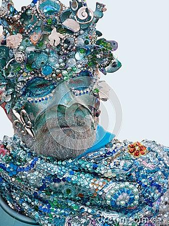 Neptune mask - Venice Carnival 2011 Editorial Image