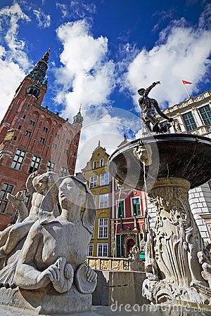 Neptune in old town of Gdansk