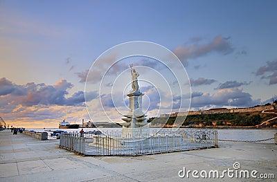 Neptune statue in havana bay entrance