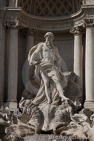 Neptune on the Trevi Fountain