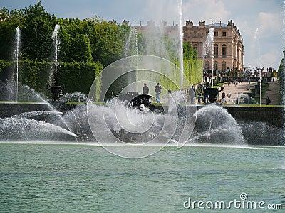 Neptunes garden in Versailles Paris Editorial Stock Photo