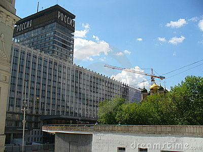 Ner hotell som drar russia Redaktionell Fotografering för Bildbyråer
