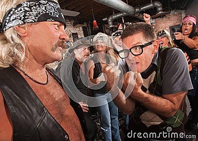 Nerd Confronting Gang Member
